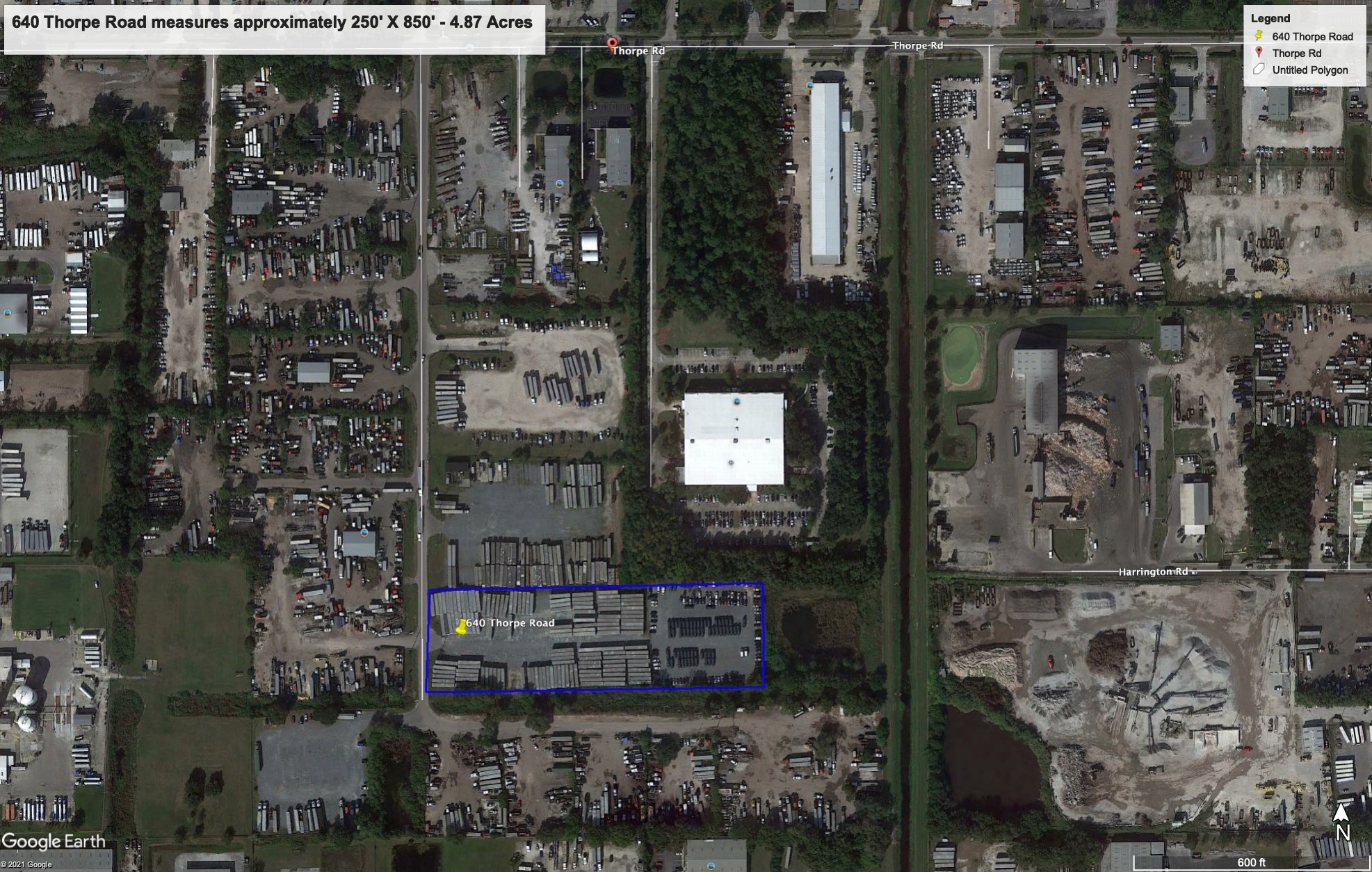 4.87 Acre Privately Fenced and Graveled Storage Yard